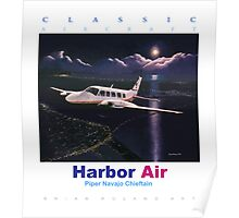 Harbor Air Piper Navajo Chieftan ver 2 Poster