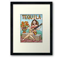 Tequila senorita Framed Print
