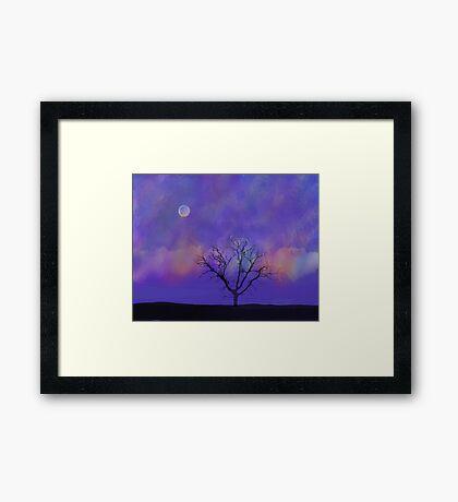Under A Purple Sky Framed Print