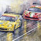 Le Mans 2011 GTE Pro Chevrolette Corvette C6R vs Ferrari 458 Italia by Yuriy Shevchuk