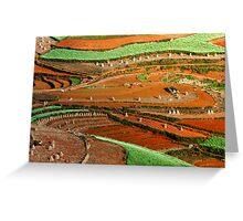Patterns at Dongchuan Greeting Card