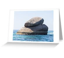 Rock in the ocean on the Andaman Sea Greeting Card