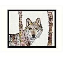 The cunning wolf Art Print