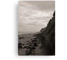 Garie Beach Monochrome Canvas Print