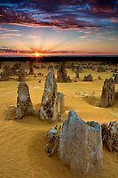 Sunset at The Pinnacles by thorpey