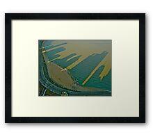 Oak St. Beach Shadows Framed Print