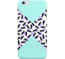 Teal Color Block, Dots, & Brushstrokes iPhone Case/Skin