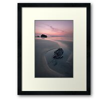 A Soothing Bedruthan Steps, Cornwall Sunset Framed Print