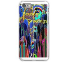 Abstract Poppies greeting iPhone Case/Skin