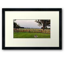 Victorian Farm Panorama Framed Print