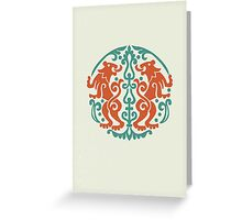 lion crest Greeting Card