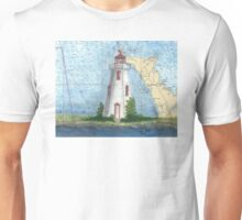 Tobermory Lighthouse Ontario Canada Nautical Chart Peek Unisex T-Shirt