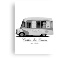 Castles Ice Cream est. 1843 Canvas Print
