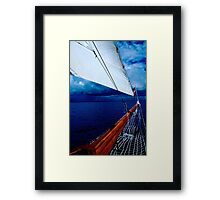 Sailing into a Storm Framed Print