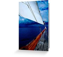 Sailing into a Storm Greeting Card