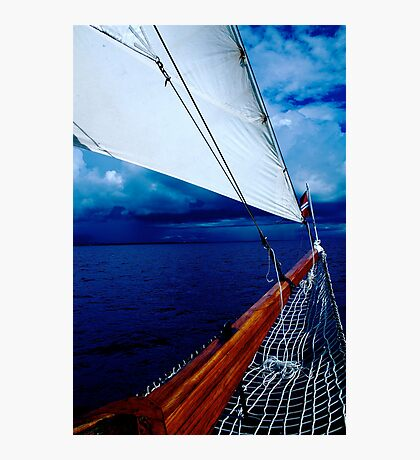 Sailing into a Storm Photographic Print