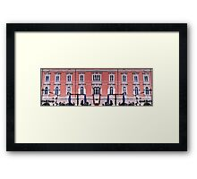 Reflection with affection of Trieste Framed Print