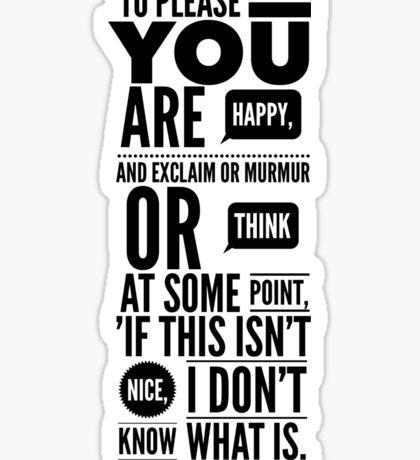 Vonnegut Quote Sticker