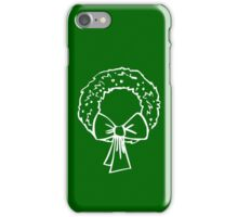 Vintage Green Christmas Wreath with Ribbon iPhone Case/Skin