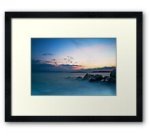 Sunset at Ouranoupolis Framed Print
