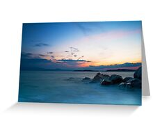 Sunset at Ouranoupolis Greeting Card