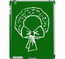 Vintage Green Christmas Wreath with Ribbon iPad Case/Skin