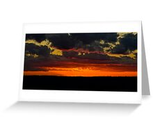 Sunset at the Redbubble Rumble. Greeting Card