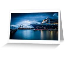 Queen Mary 2 vs Opera House Greeting Card