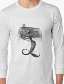 Watchful Mermaid  Long Sleeve T-Shirt