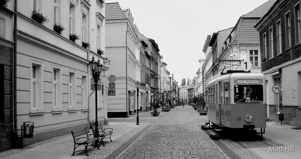 Poland Streets B/W by Matt Hill