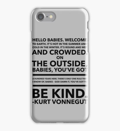 Vonnegut Quote iPhone Case/Skin