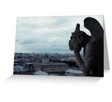 Chimera's view of Paris Greeting Card