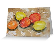 Water colour painting, Fruit Still Life Greeting Card