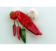 Chilli n Garlic Photographic Print