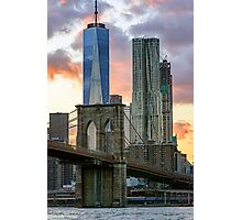 Fall Sunset Downtown New York Photographic Print