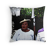women at rambut siwi Throw Pillow