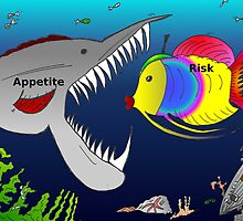 Binary Options News Cartoon Appetite for Risk by Binary-Options