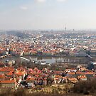View from Petřín Lookout Tower by Nicholas Jermy