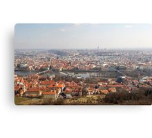 View from Petřín Lookout Tower Canvas Print