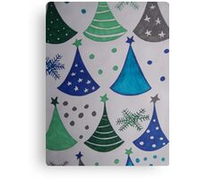Retro Christmas Tree Canvas Print