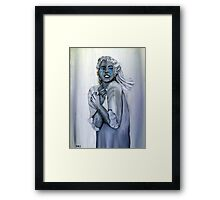 Blue tears - las lágrimas azules Framed Print