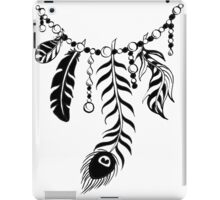 Feather Necklace Black Version iPad Case/Skin