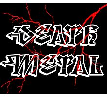 Death metal sign Photographic Print