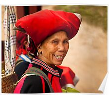 Lady from the Red Dzao tribe Poster