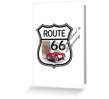 Route 66 vintage stylist america highway gifts Greeting Card