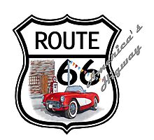 Route 66 vintage stylist america highway gifts Photographic Print