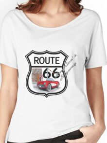 Route 66 vintage stylist america highway gifts Women's Relaxed Fit T-Shirt