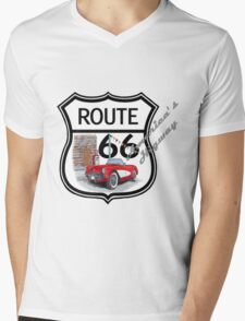 Route 66 vintage stylist america highway gifts Mens V-Neck T-Shirt