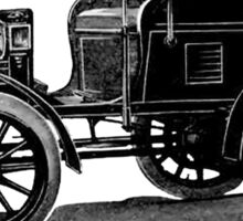 Columbia Electric Car 1901 Vintage Advertisement Sticker