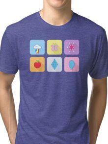 My Little Pony - Mane Six Flat Icons Tri-blend T-Shirt